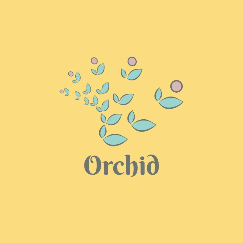 Watercolor Orchid Logo Design