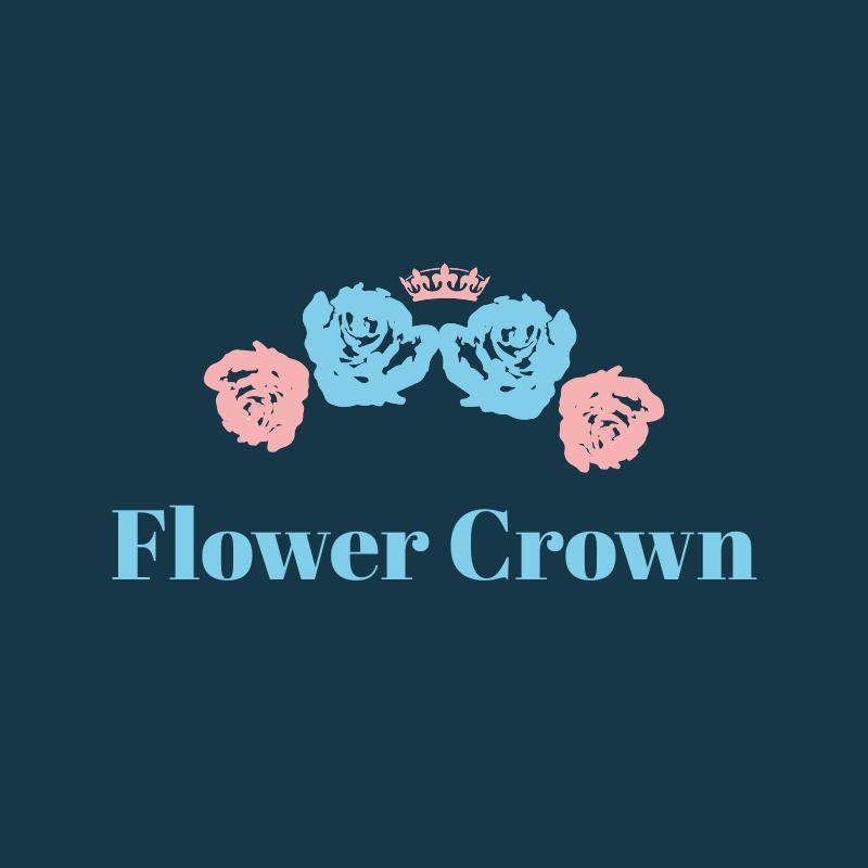 Watercolor Flower Crown Logo Design