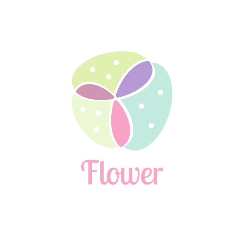Watercolor Feminine Flower Logo Design