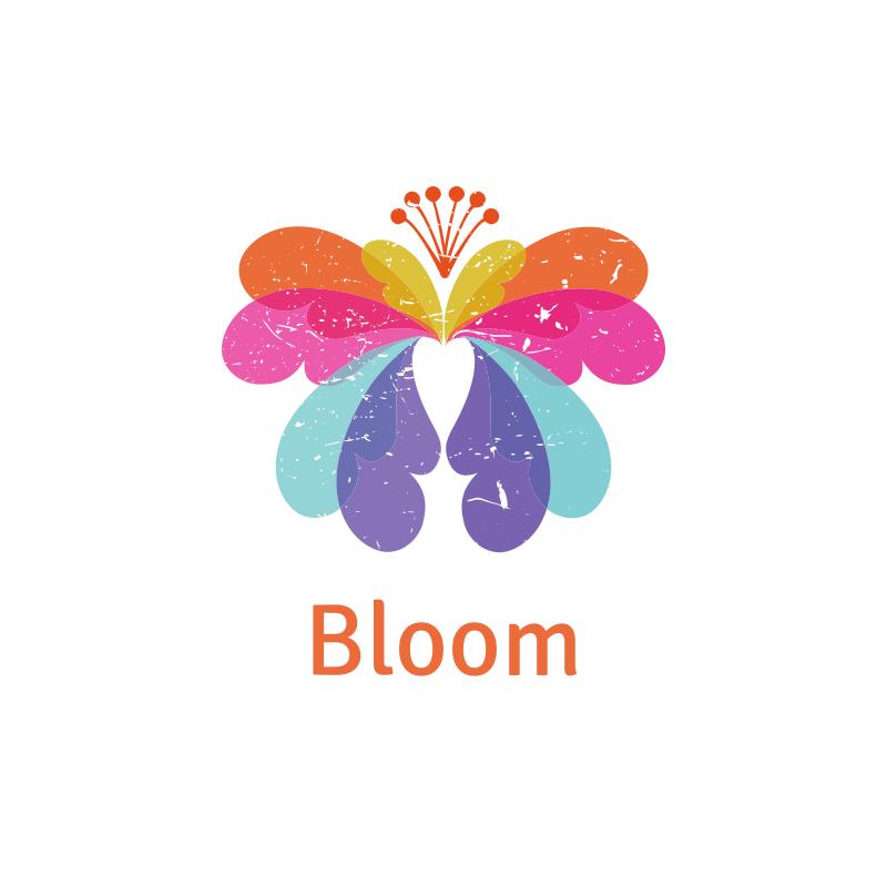 Watercolor Bloom Logo Design
