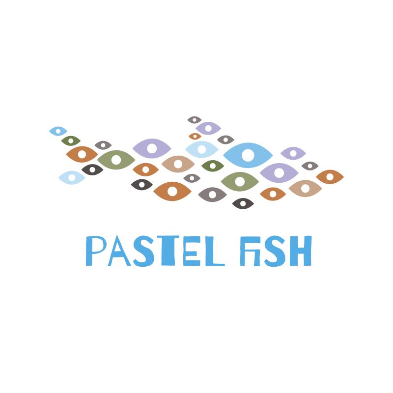 Pastel Fish Logo Design