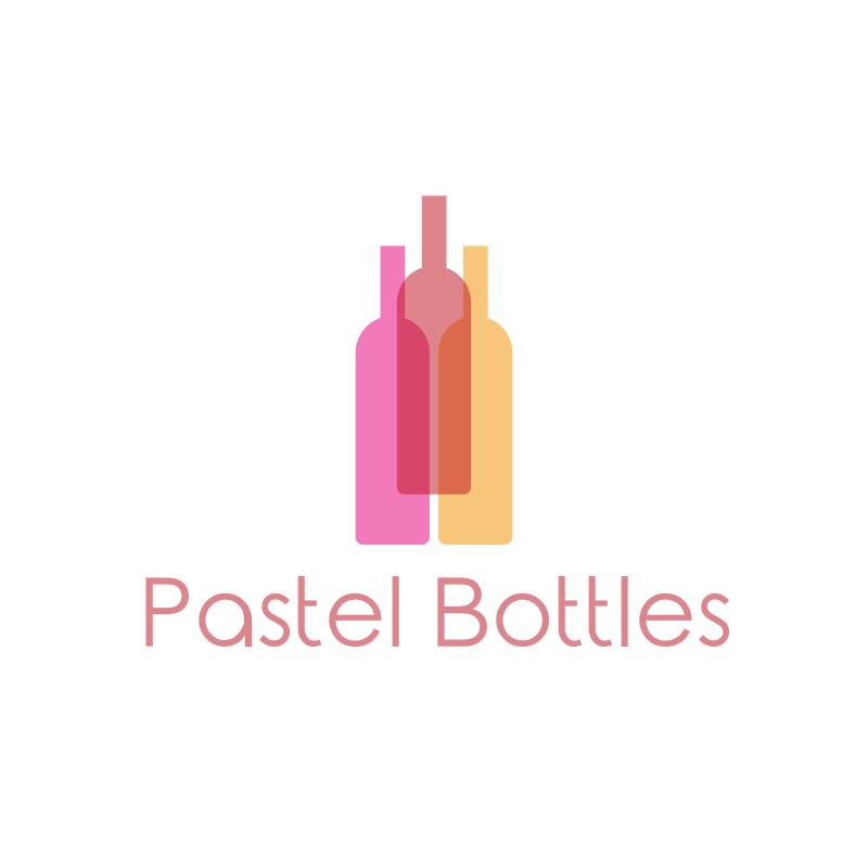 Pastel Bottles Logo Design