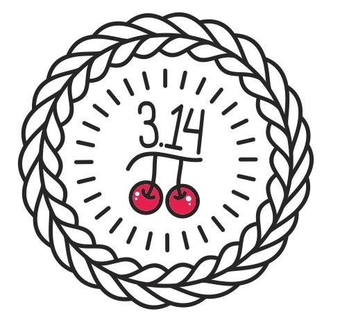 Pie and Cherry Logo Design