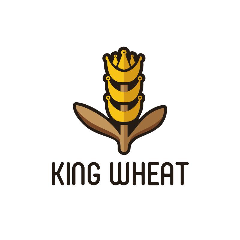 King Wheat Logo Design