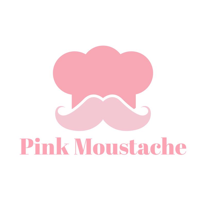 Pink Moustache Logo Design