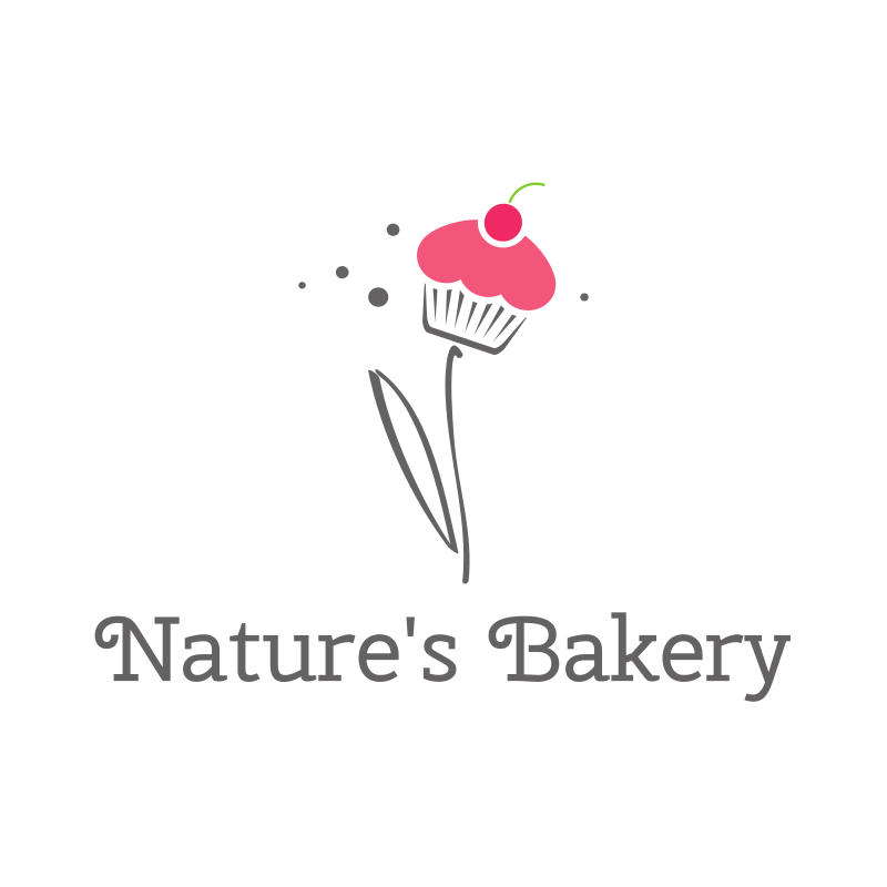 Cupcake Flower Bakery Logo Design