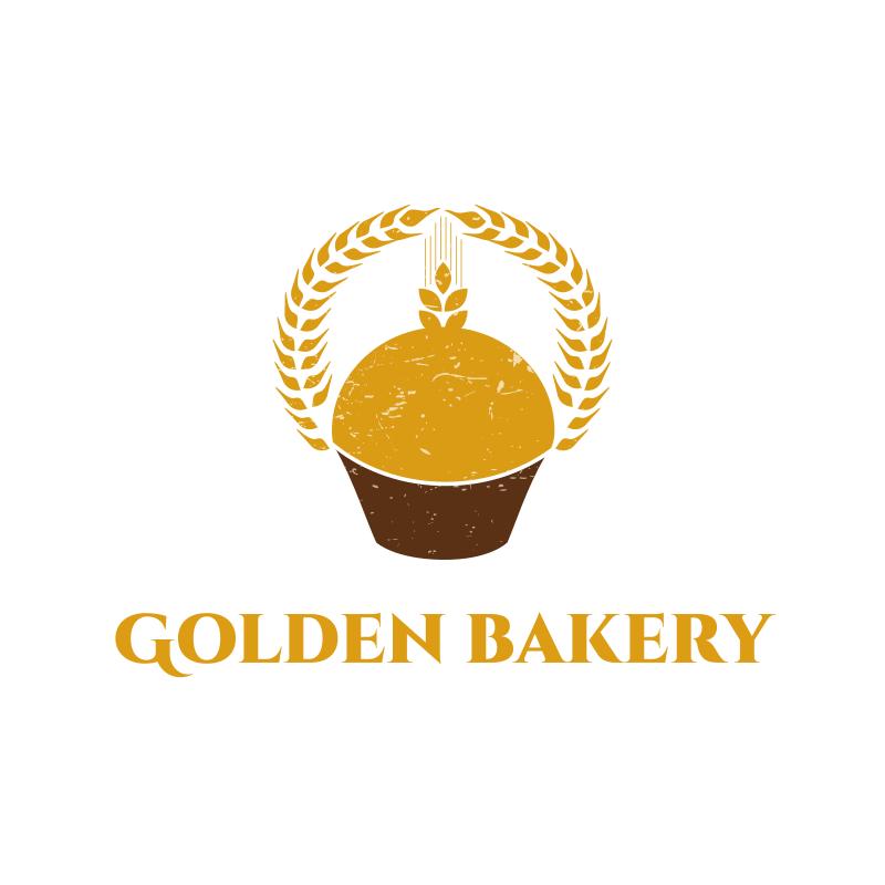 Wheat and Cake Bakery Logo Design