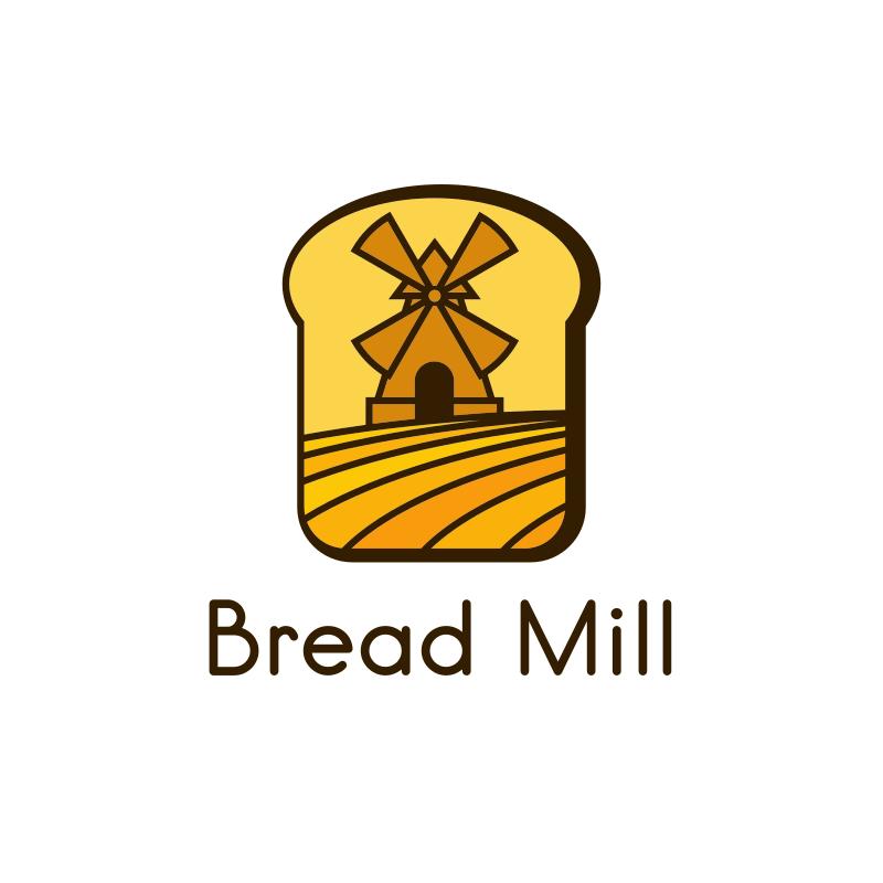Bread Mill Toast Logo Design