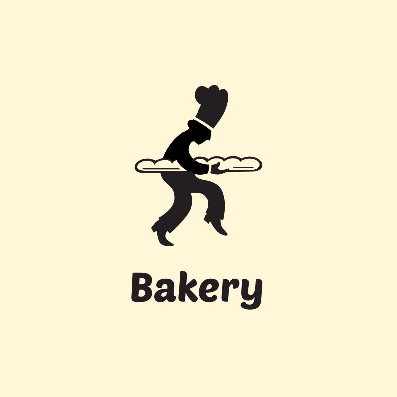 Baker Silhouette Logo Design