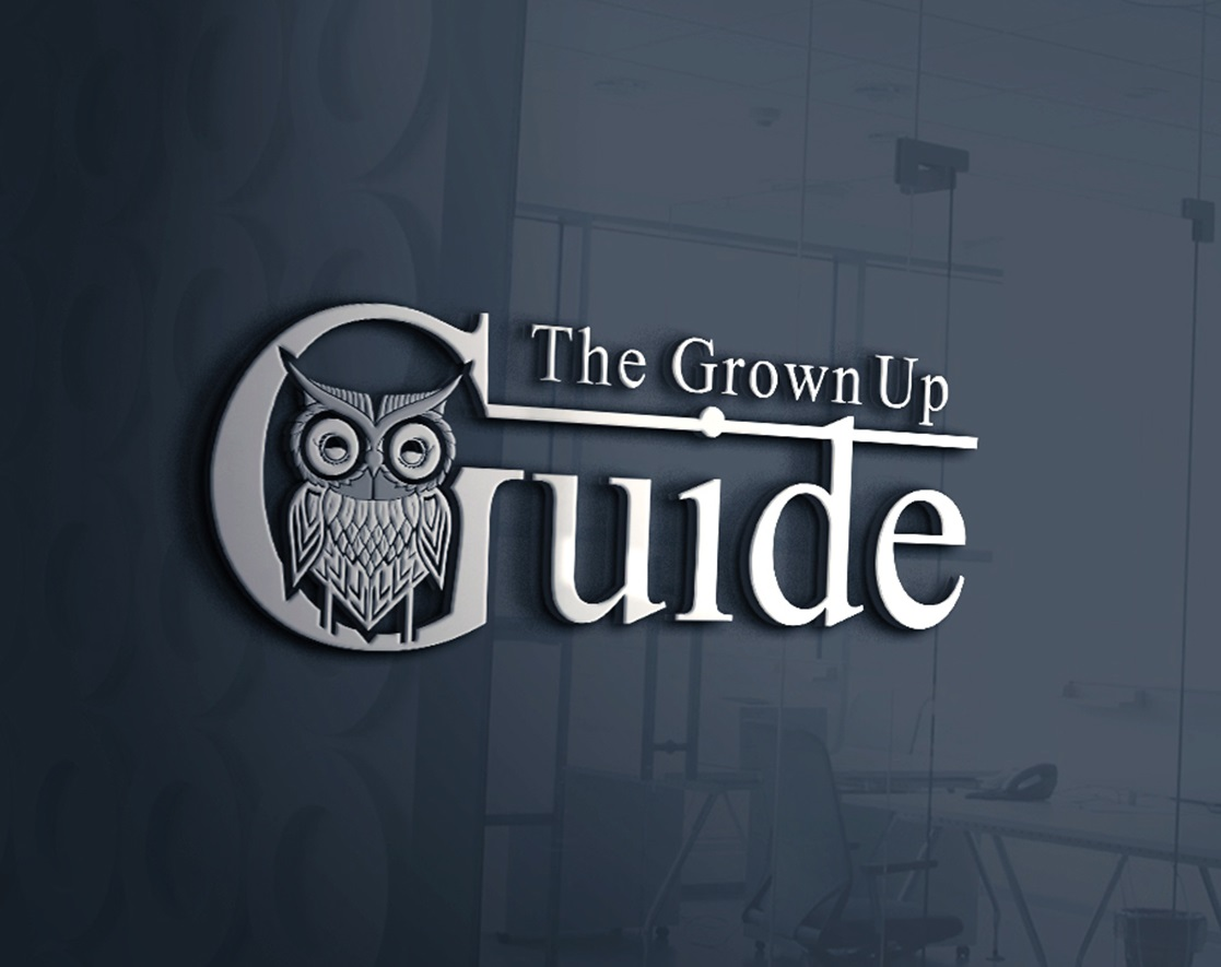 The Grown Up Guide Owl Logo Design by A.STUDIO