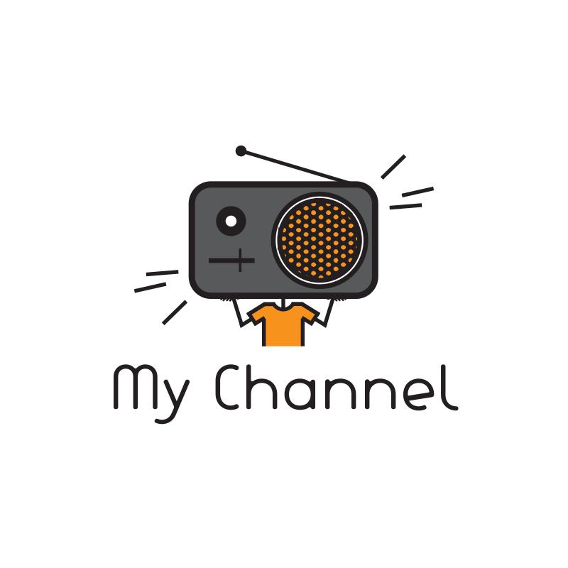 Radio My Channel YouTube Logo Design