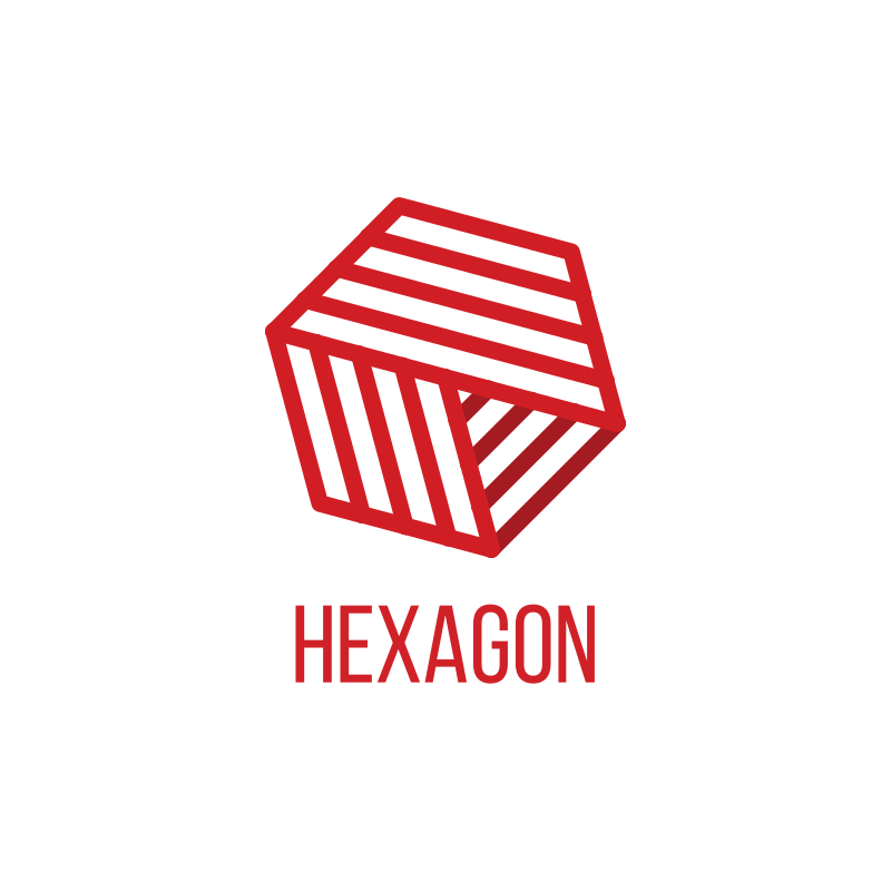 YouTube News Channel Hexagon Logo Design
