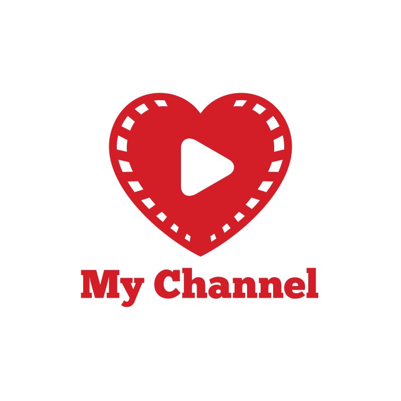 Heart My YouTube Channel Logo Design