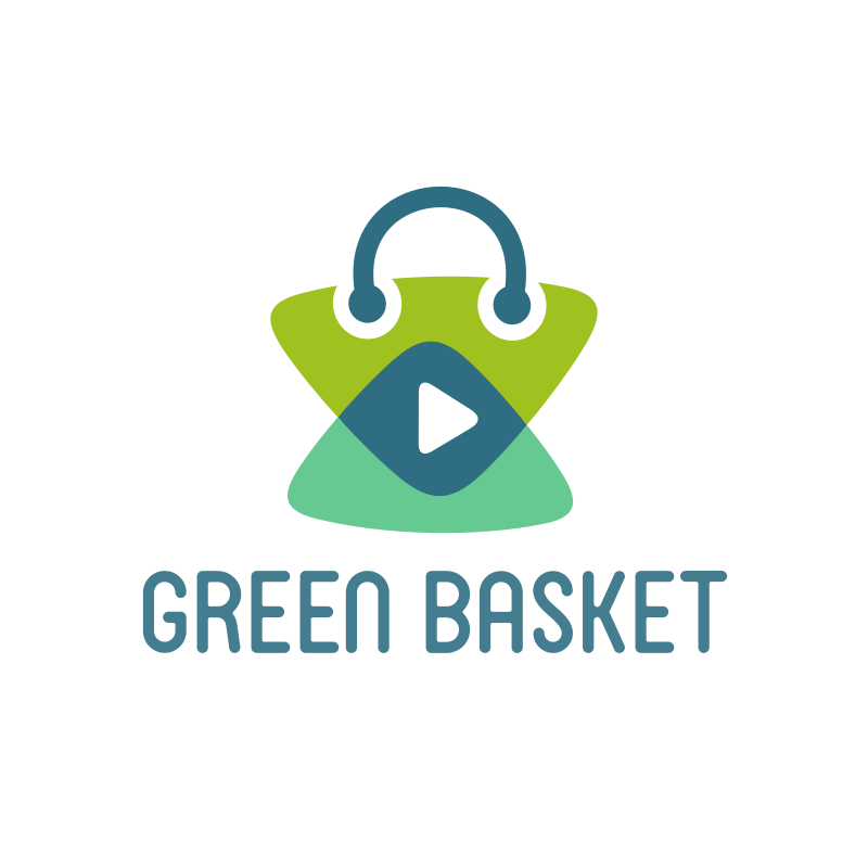 Green Basket YouTube Logo Design