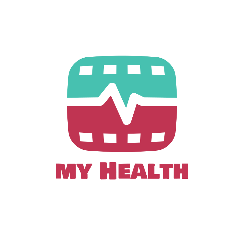 YouTube My Health Logo Design