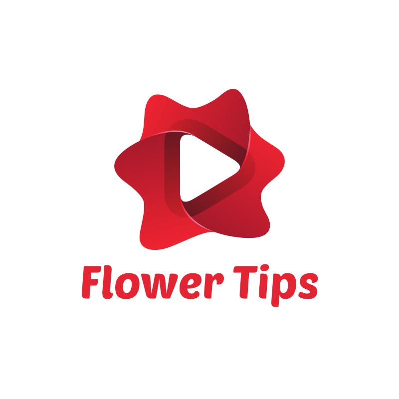 Flower Tips YouTube Logo Design