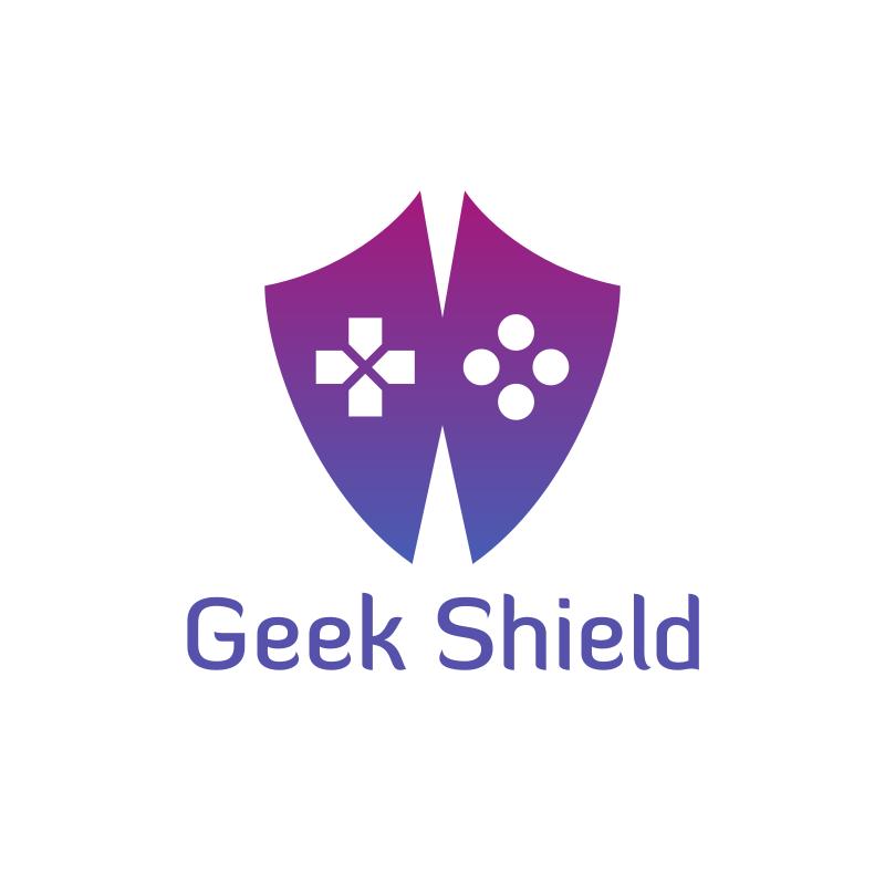 YouTube W Geek Shield Logo Design