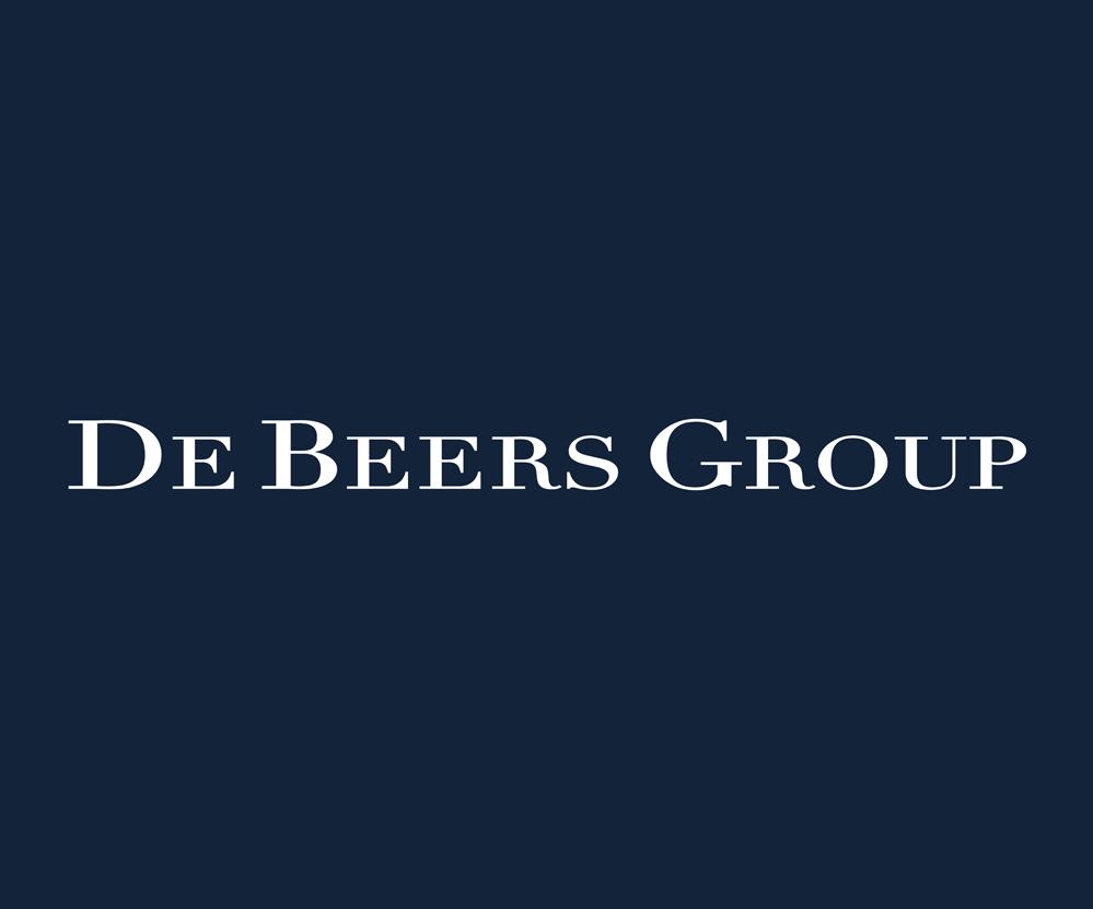 De Beers Text Logo Design