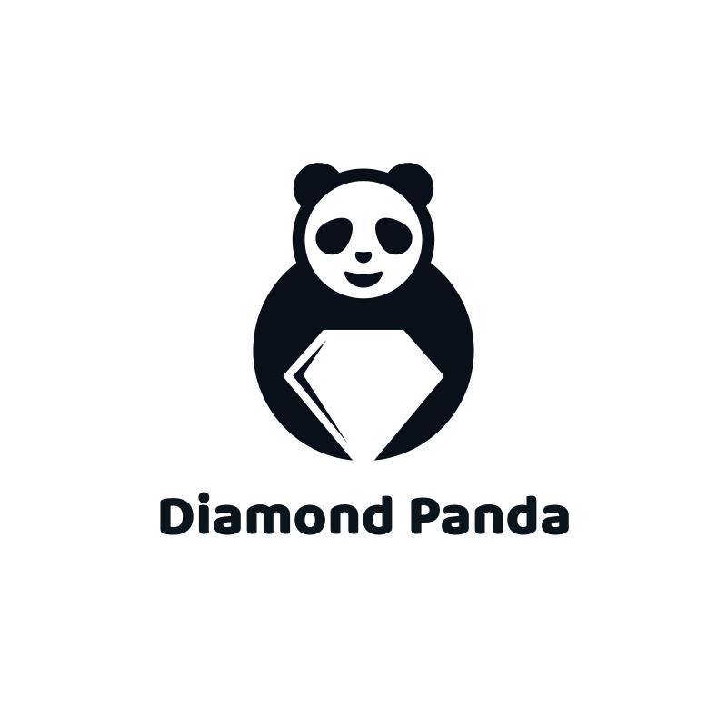 Diamond Panda Logo Design