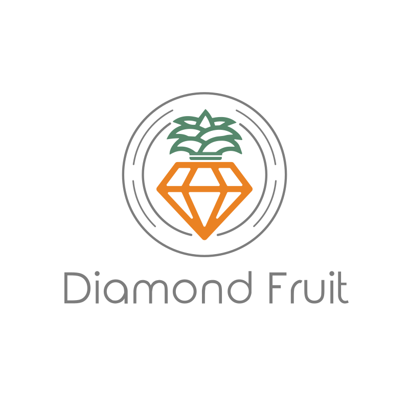 Diamond Fruit Logo Design
