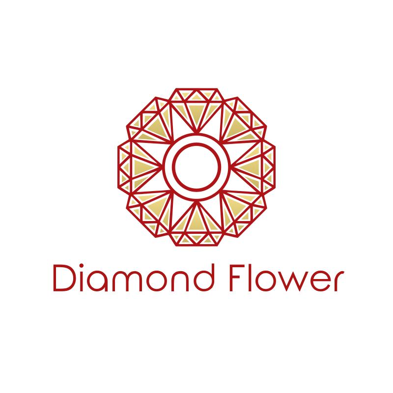 Diamond Flower Logo Design