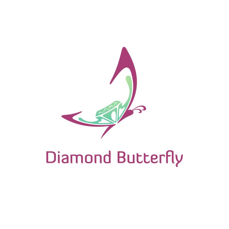 Diamond Butterfly Logo Design