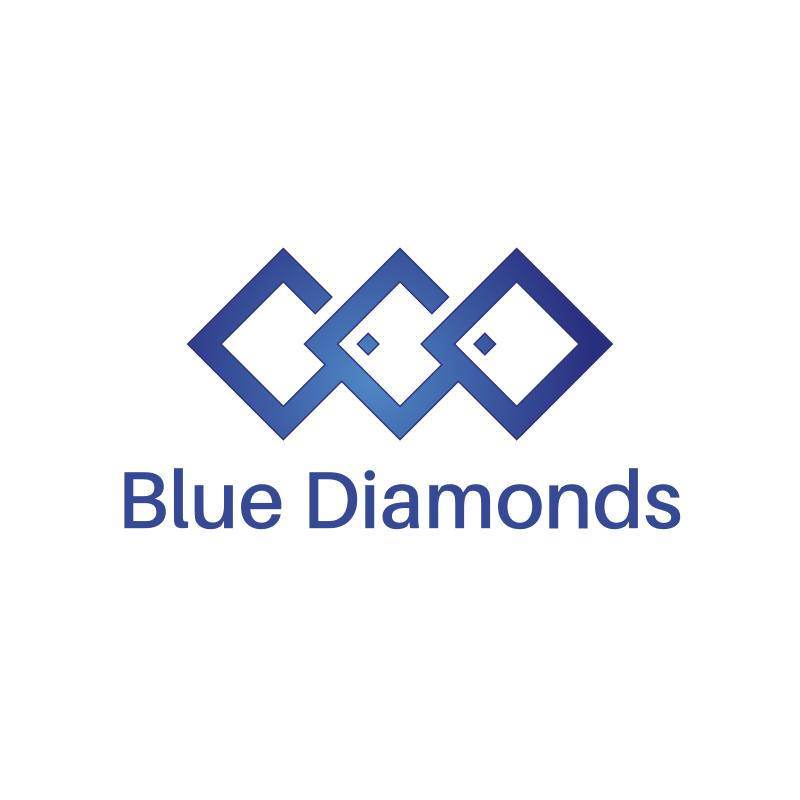 Blue Diamonds Logo Design