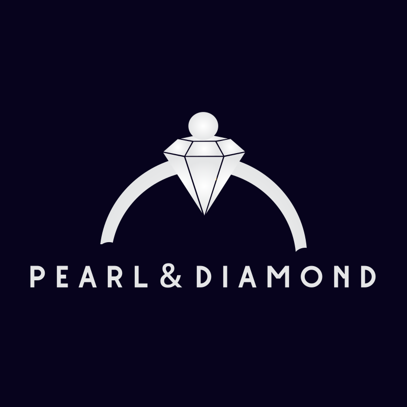 Pearl & Diamond Ring Logo Design