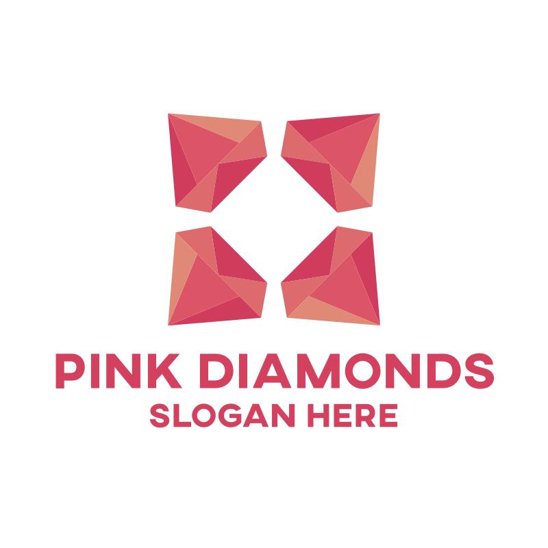 Pink Diamonds Logo Design