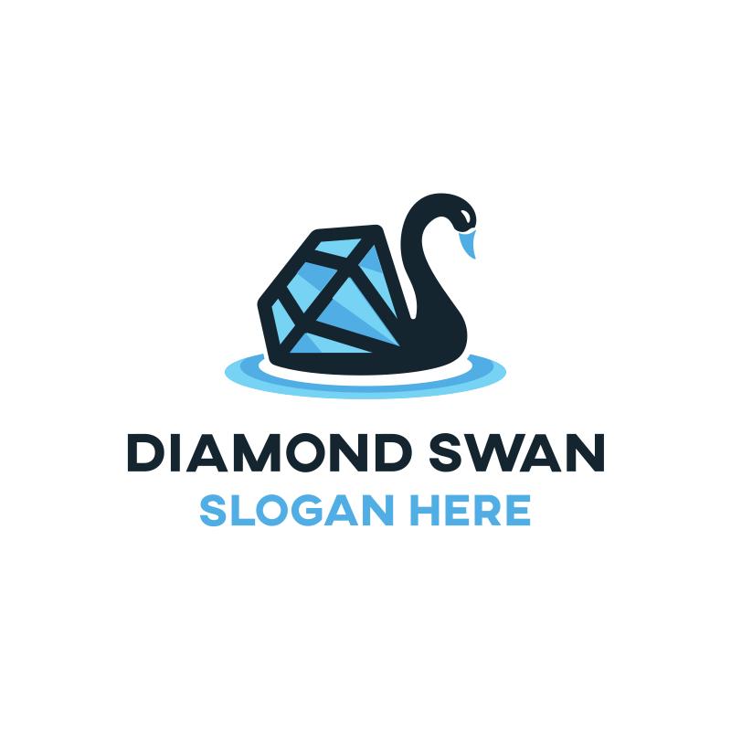 Diamond Swan Logo Design