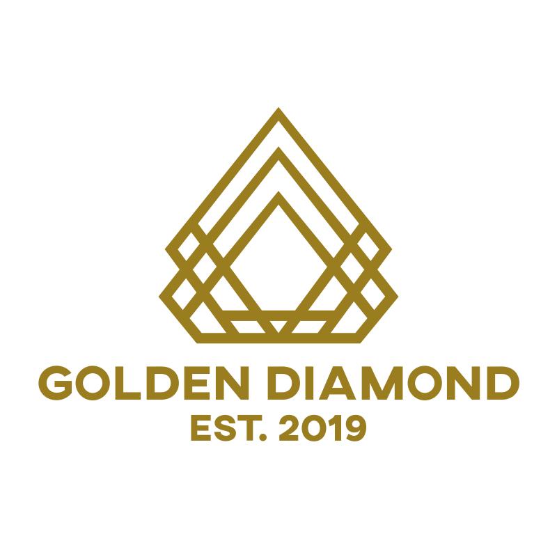 Golden Diamond Logo Design