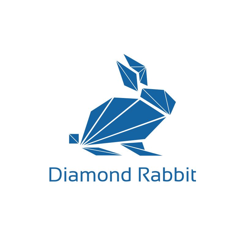 Diamond Rabbit Logo Design