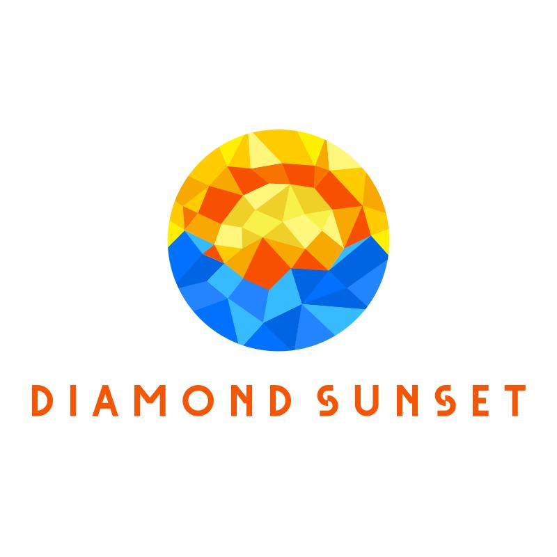 Diamond Sunset Logo Design