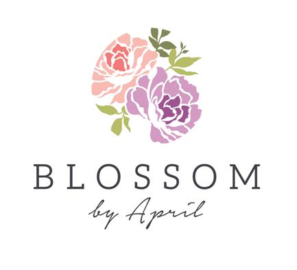 Elegant Florist Logo Design In Pastel Tone