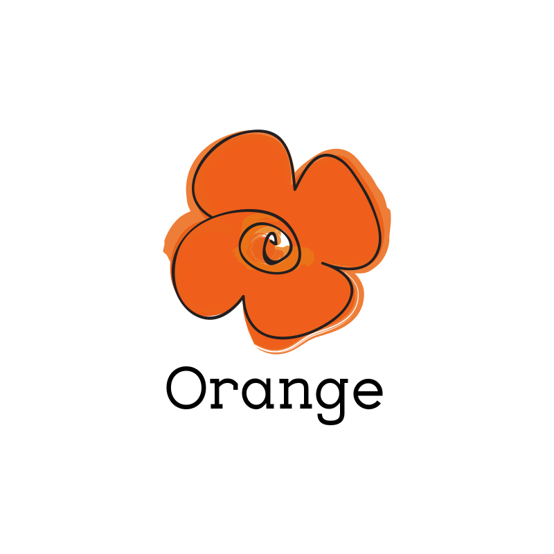 Orange Flower Logo Design