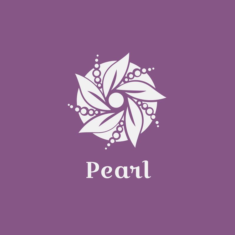 Pearl Flower Logo Design