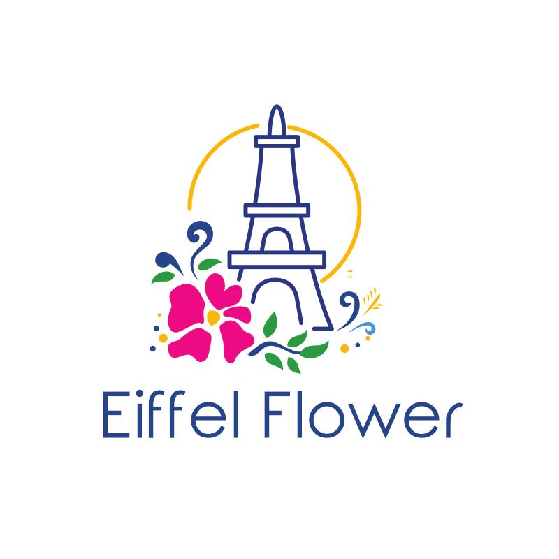 Eiffel Flower Logo Design