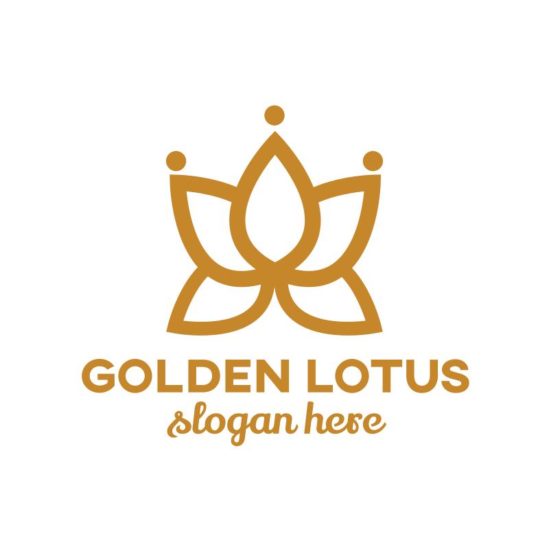 Golden Lotus Logo Design