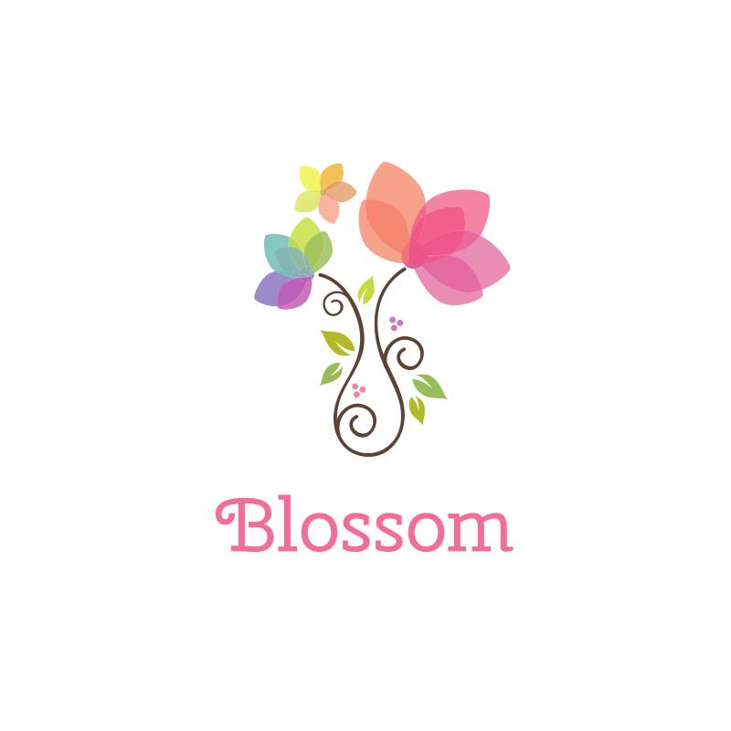 Cute Flower Pot Logo Design