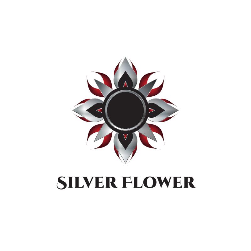 Silver Flower Logo Design