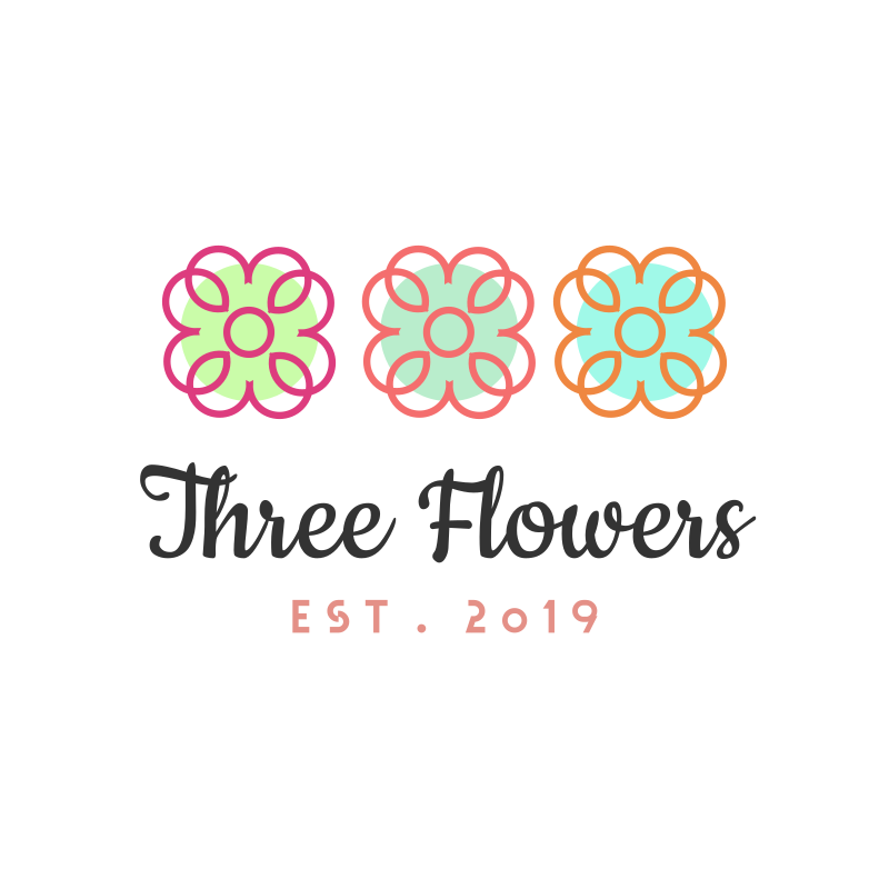Three Flowers Logo Design