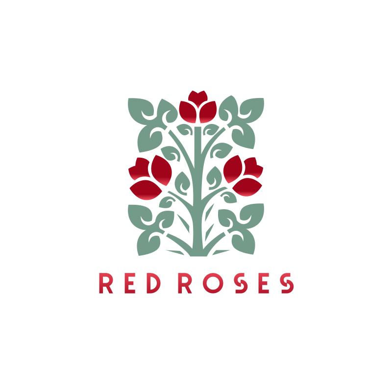 Red Roses Logo Design