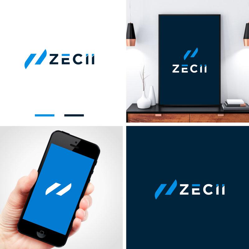 Blue Logo Design by Teka Logo