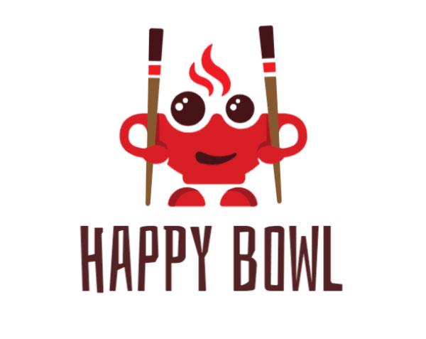 Happy Bowl Logo Design by