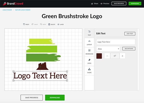 Green Brushstroke