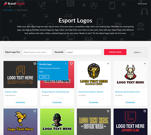 Logos Of The Top Esports Startups And How To Get One