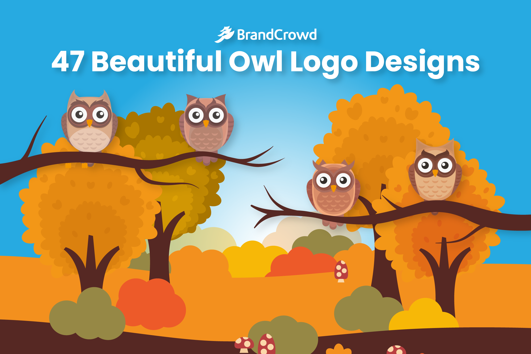 the-header-features-illsutrations-of-owls-sitting-on-branches-of-trees-in-autumn-the-typography-of-the-blog-title-is-found-in-the-upper-region