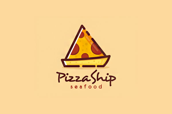 Pizza Logo Design by  Moonley