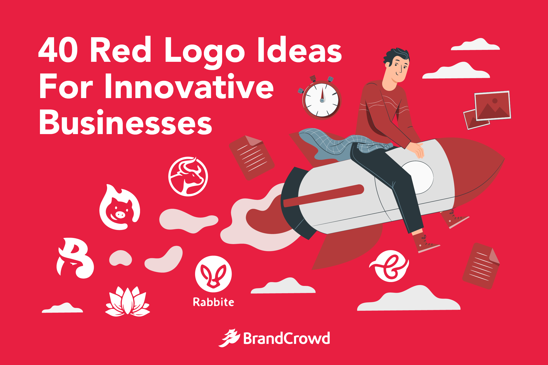 the-header-features-an-illustration-of-a-man-sitting-atop-of-a-rocket-while-it-emits-smoke-and-logo-ideas-on-its-rear-engine-the-blog-title-typography-is-placed-on-the-top-left-region
