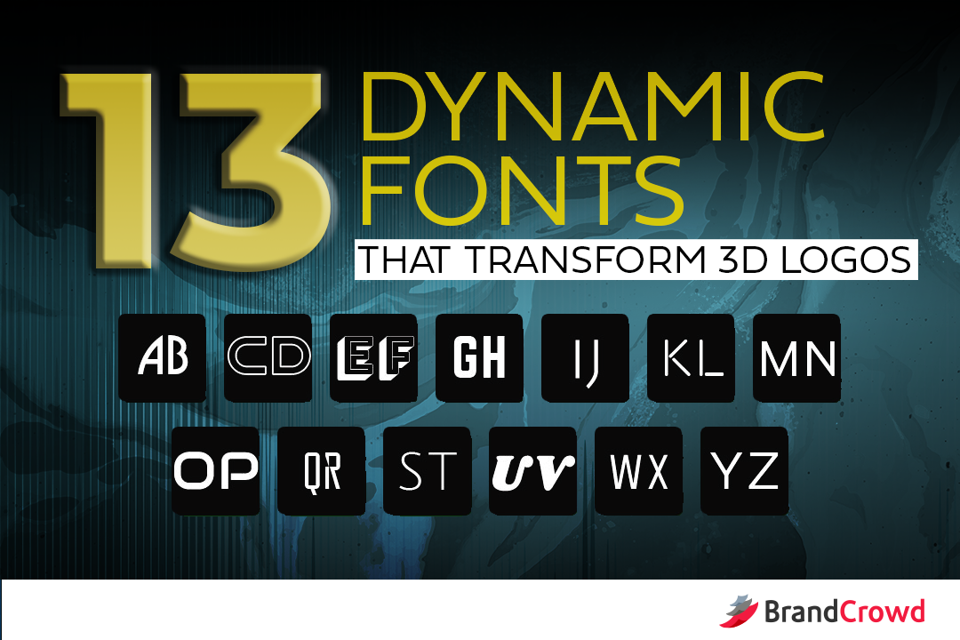 13 Dynamic Fonts That Transform 3D Logos - BrandCrowd